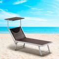 4 Espreguiçadeiras de alumínio Santorini Limited Edition para a praia - vendita
